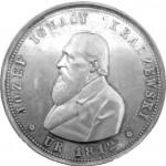 Medal jubileuszowy wybity na cześc J. I. Kraszewskiego w 1879.