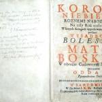 Korona Niebieska, modlitewnik z 1727 roku z autografem J. I. Kraszewskiego i jego brata Kajetana