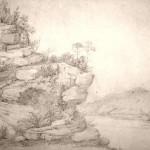 Widok z okolic Żytomierza, rysunek ołówkiem.