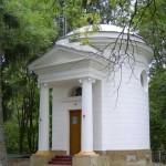 Kaplica w Romanowie. Widok od strony północnej.