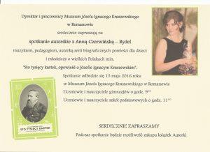 Zaproszenie - spotkanie autorskie 001